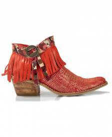 Leather Boots Winona Red