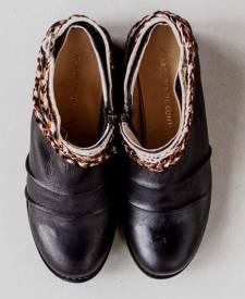 Leather Boots Maka Black