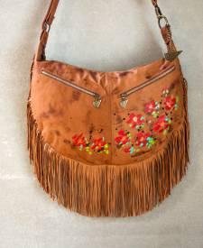 Luna Handbag With Art and Fringes