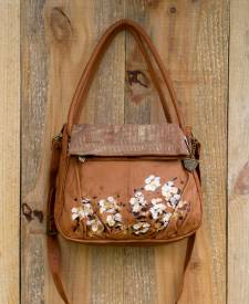 Bolson Tan Handbag With Art
