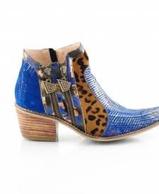 Leather Boots Eva Azzurro