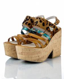 Sandals KALA nut brown