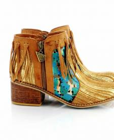 Leather Boots Indara Gold