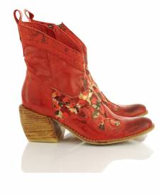Leather Boot Taima Red