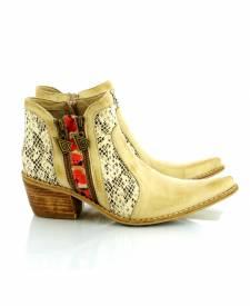 Leather Boots Eva Ivory
