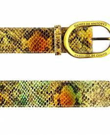 Leather Belt Animal Print Design