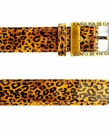 Leather Belt Animal Print Design
