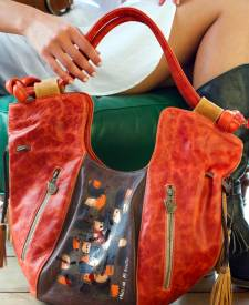 Modena Handbag With Art