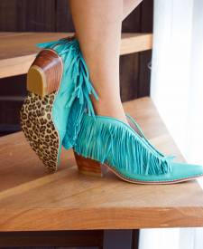 Leather Boots Fringes Mausi