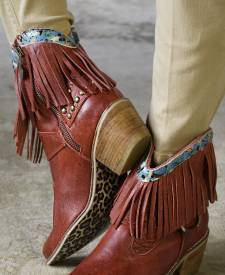 Takoda Red Leather Boots