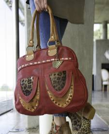 Babilonia Leather Handbag
