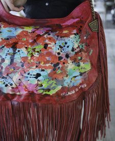 Granada Handbag With Art and Fringes
