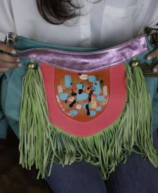 Tebas Handbag With Art
