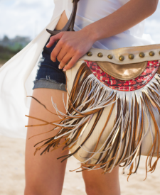 Creta Handbag with fringes
