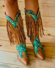 Ima Leather Boots With Fringes