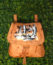 Iris Leather Backpack Terra