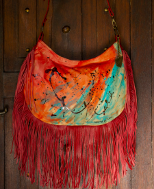 Granada Handbag With Art and Fringes