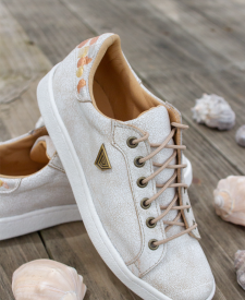 Leather sneakers Dasha white