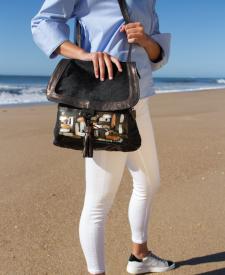 Iris Leather Backpack Black