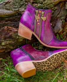 Leather Boots Eva Purple