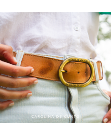 Terracotta Leather Belt