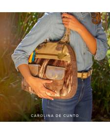 Leather Handbag Juana Tan