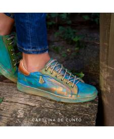Leather Dasha Sneakers Blue