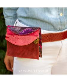 Lady´s Wallet  and Belt Kiona  Burgundy