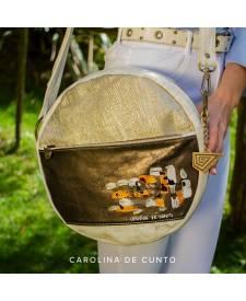 Tonda Leather Handbag Gold