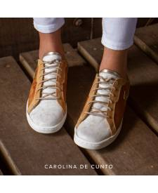 Leather Sneakers Indra Honey
