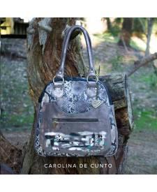 Artemisa Grey Leather Handbag