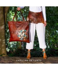 Leather Bag Brown Arany
