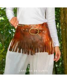 Wide leather belt TIWA