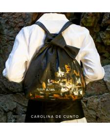 Leather backpack Cappio
