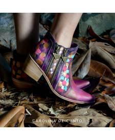 Leather Boots Eva magic paint