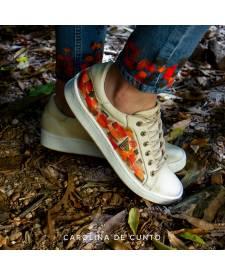 Leather sneakers Dasha Sand