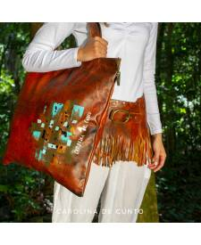 Leather Bag Brown Arany