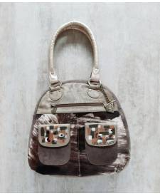 Leather Handbag Juana Beige