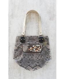 Diamanta leather handbag
