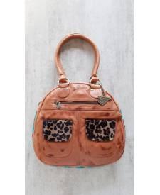 Leather Handbag Juana Beige