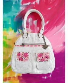 Leather Handbag Juana white