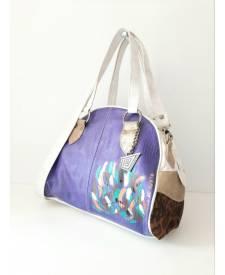 Kanda Leather Handbag Animal Print