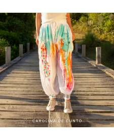 Joggers with art Carolina De Cunto