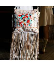 Cassia Handbag With Art and Fringes