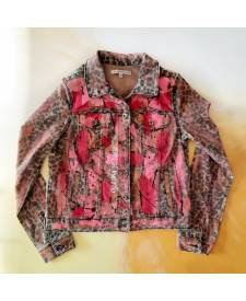 Jeans jacket Roma with art