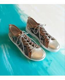 Leather Sneakers Indra piton