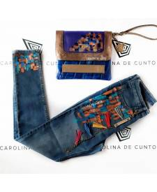 Jeans with art