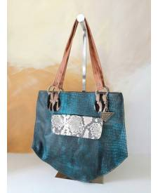 Diamanta leather handbag
