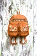 Backpack Jimena Caramel Flowers