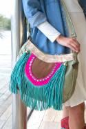 Tebas Handbag With Art